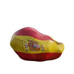 spain deflated soccer ball