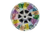 Geldscheine und PKW-Rad