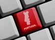 Portugal - Umriss auf Tastatur