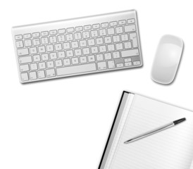 white desktop above