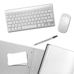 white desktop