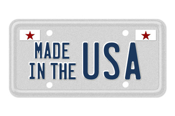 Made in the USA License Plate