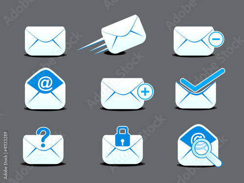 abstract mail  icon set