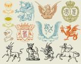 Fototapety heraldic set