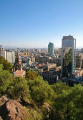 Skyline of Santiago, capital of Chile