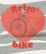 old retro bicycle grunge background