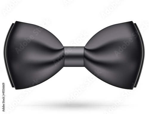 Vector illustration of black bow-tie