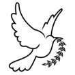 vector symbol of dove olive branch