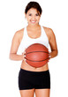 Woman with a basketball