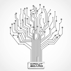 circuit board shaped tree