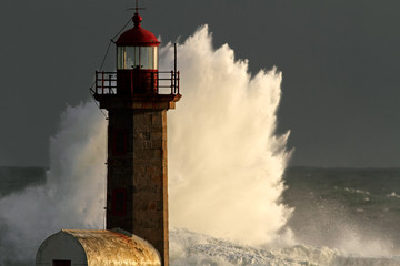 Storm in the lighthouse