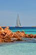 Segelboot Costa Smeralda Sardinien