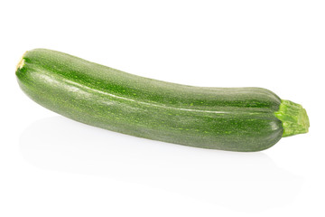 Courgette isolated on white, clipping path included