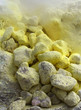 Sulphur yellow stones, volcano, Indonesia