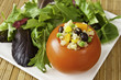 Quinoa Stuffed Tomato with Salad