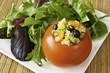 Quinoa Stuffed Tomato with Salad