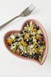 Heart Dish of Quinoa Salad
