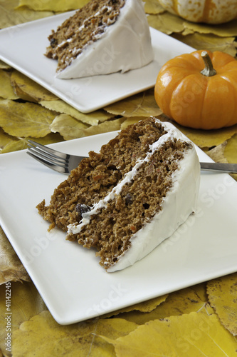 Autumn Carrot Cake for Two