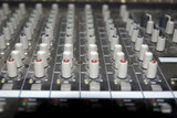 sound editing console sliders
