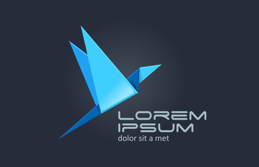 Logo Bird Abstract. For any type of business