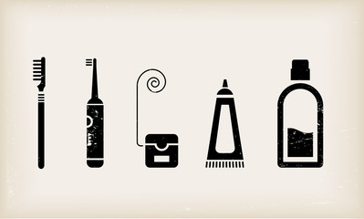 Mouth and teeth care icons