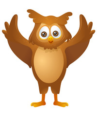 mascot Owl - greeting