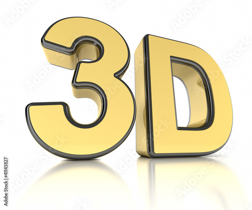 3D icon over white background