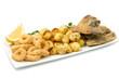 fritto misto di pesce con patate arrosto