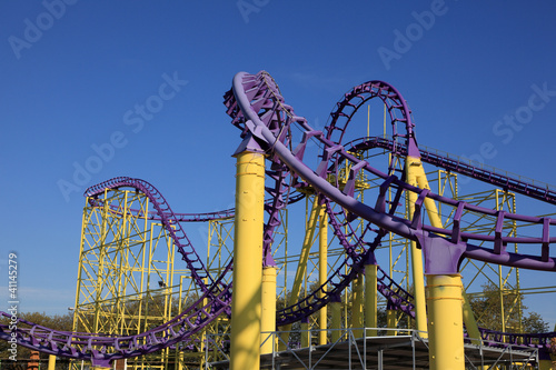 Roller coaster at a theme park