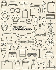 design elements related to travel and vacation.