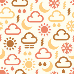 Seamless Pattern Of weather icons
