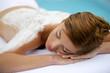 woman having back massage