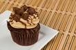 Peanut Butter Cupcake on Bamboo
