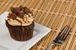 Peanut Butter Cupcake on Bamboo