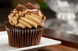 Peanut Butter Cupcake on Wood