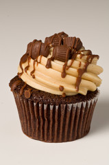 Peanut Butter Cupcake on White