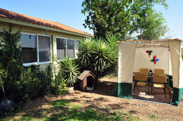 Sukkah for Jewish Holiday Sukkot