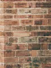 Brick Texture with Flood Records