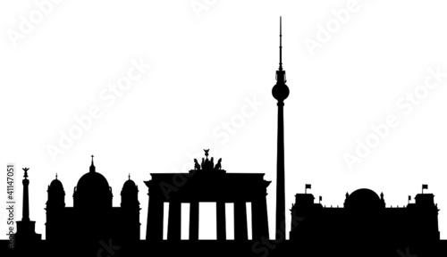 berlin skyline stockfotos und lizenzfreie vektoren auf bild 41147051. Black Bedroom Furniture Sets. Home Design Ideas