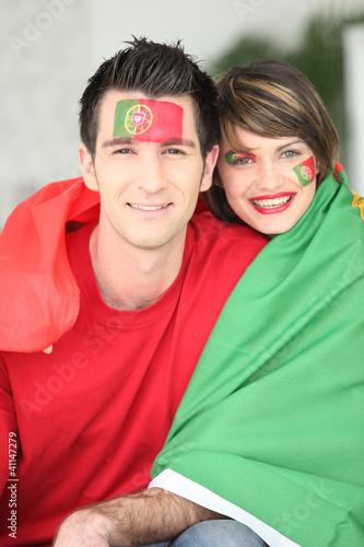 Portuguese soccer fans