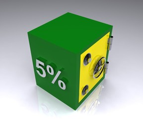 5 percent deposit bank safe