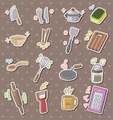 kitchen tool stickers