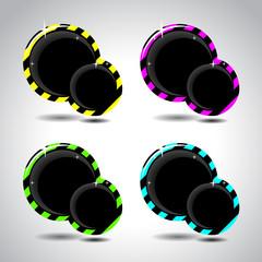 Four stripe bubble for design. Vector illustration