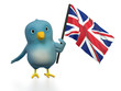 "Blue bird (""Bluebert"") with the flag of Great Britan"