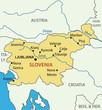 Republic of Slovenia - vector map