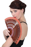 Spanish dancer holding a fan
