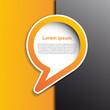 Cover speech in orange # Vector
