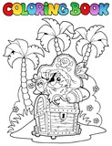 Coloring book with pirate topic 1 - 41151427