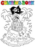 Coloring book with pirate topic 3 - 41151476
