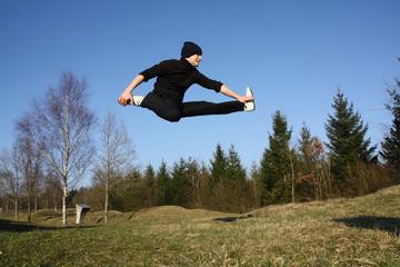 Breakdance, hip-hop, figure, saut périlleux, salto